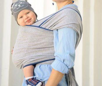 cumpără Sling-Fular din tricotaj Light Grey WrapBag by Bagy în Chișinău