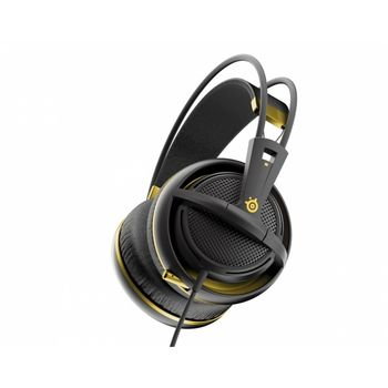 STEELSERIES Siberia 200 / Gaming Headset with retractable Microphone, on the cord volume control, 50mm neodymium drivers, Comfortable, Lightweight, Cable lenght 1.8 m, 3.5mm jack, Alchemy Gold