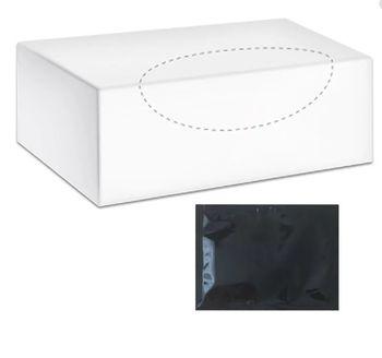 Салфетки влажные для рук и лица PROservice, черные, 80 шт.
