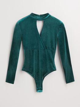 Блуза RESERVED Зеленый up789-67x