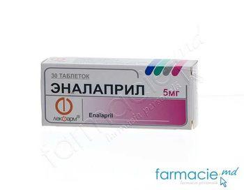 купить Enalapril comp. 5 mg N10x3 (Lekfarm) в Кишинёве