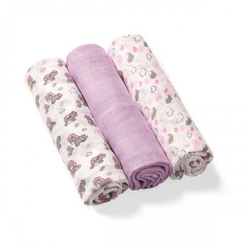 купить Пеленки из органических бамбуковых волокон Babyono фиолетовые в Кишинёве