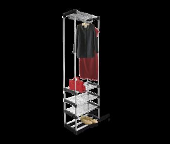 купить Вешалка гардеробная чёрный/ хром лак В1-79 в Кишинёве