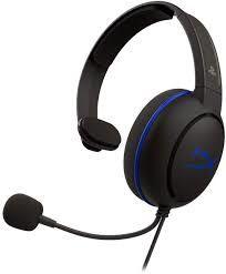 Игровая гарнитура HyperX Cloud Chat PS4, драйвер 40 мм, 16 Ом, 50-10 кГц, 85 дБ, 123 г, 3,5 мм (4 контакта)