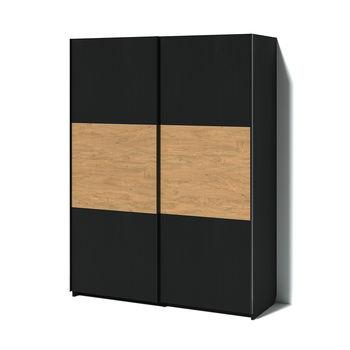 Шкаф TOPLINE дуб каменный / чёрный ясень