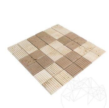 cumpără Mozaic Travertin Classic-Noce Rizat 4.7 x 4.7 cm în Chișinău