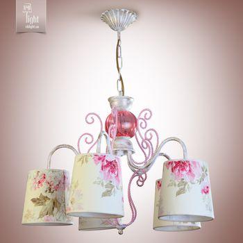 купить N&B Light Люстра Санта-Мария 14505-1 беж с роз., бело-золотой/розовый в Кишинёве