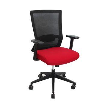 cumpără Scaun de birou 635x550x1015 mm, negru cu roşu în Chișinău