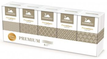 Платочки носовые Harmony Premium 4 слоя