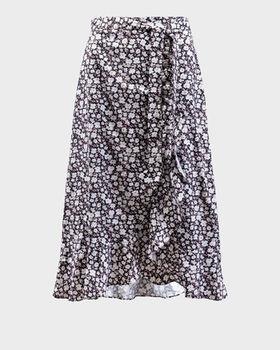 Юбка CO'COUTURE Черный в цветочек 74202 cocouture