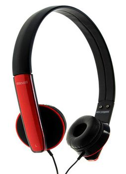"MAXELL ""HP-MIC"" Red, Headphones with in-line Microphone, Hands free calling features, 1.2 m"