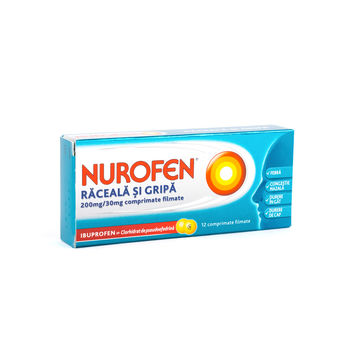 cumpără Nurofen raceala si gripa 200mg+30mg comp. film. N12 în Chișinău