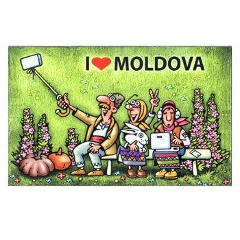 купить Магнит на холодильник - I love Moldova в Кишинёве