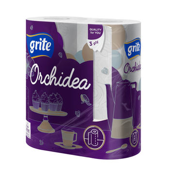 GRITE - Полотенце кухонное ORCHIDEA 3 слоя 2 рулона