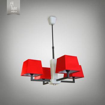 купить N&B Light Люстра Атланта 14107-2 красный, черная структура/белое дерево в Кишинёве