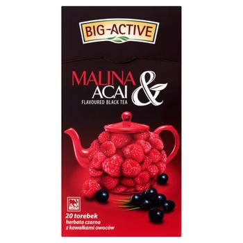 купить Чай черный Big Active with Raspeberry & Acai, 20 шт в Кишинёве