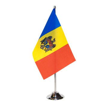 cumpără Steguleț de masă 22,5x15 cm pe catarg metalic - Moldova sau alte țări în Chișinău