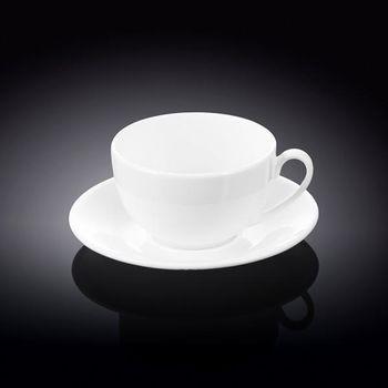 Чашка WILMAX WL-993000/6С (с блюдцем 250 мл//набор 6 шт)