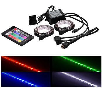 "RGD LED strips  DEEPCOOL ""RGB 350"", Remote controller, RGB color LED strips: 500mm* 2pcs (with 200mm cable),  Different lighting modes, Magnet-based mounting, Stable and long lifespan, Software control (ASUS Aura/MSI Mystic/Gigabyte Fusion)"
