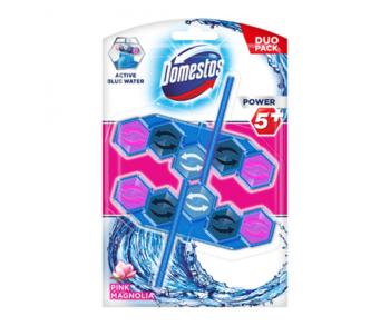 купить Блок для очищения унитаза Domestos Power 5+ Pink Magnolia Blue, 2 шт x 53 г в Кишинёве