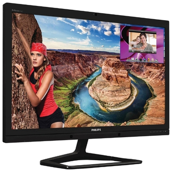 "cumpără ""27.0"""" Philips """"272C4QPJKAB"""", Black (PLS, 2560x1440, 6ms, 300cd, LED20M:1, DP+HDMIx2+DVI-DL, WebCam) (27.0"""" PLS LED, 2560x1440 WQHD, 0.233mm, 12 ms (SmartResponse: 6ms GTG), 300 cd/m², DCR 20 Mln:1 (1000:1), 16.7 M (True 8-bit), 178°/178° @C/R>10, 30-90 kHz(H)/56-75 Hz(V), DisplayPort + HDMI x2 + DVI-Dual Link, Stereo Audio-In, Headphone-Out, Built-in speakers 2Wx2, Built-in 2.0-Mpix webcamera w/microphone and LED indictor, Built-in PSU, Fixed Stand (Tilt -5/+20°), VESA Mount 100x100, MultiView, PowerSensor, Black)"" în Chișinău"