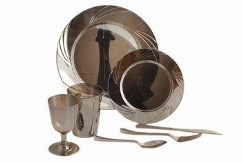 Набор тарелок EH 6шт D16cm, цвет металлик, пластик