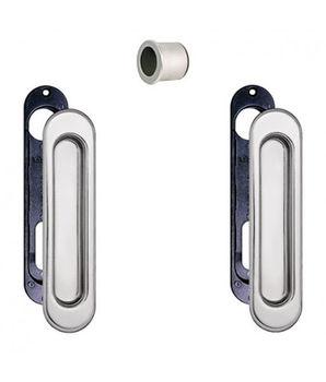 Комплект ручек для раздвижных дверей B019270032 хром сатин