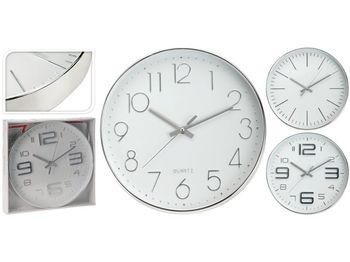 cumpără Ceas de perete rotund D30.5cm, din metal, culoare argint în Chișinău