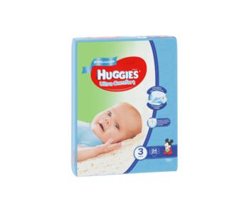 купить Подгузники для мальчиков Huggies Ultra Comfort Giga  3  (5-9кг)  94 шт. в Кишинёве