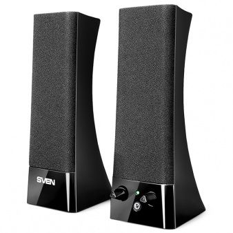 Speakers SVEN 235 Black,  2.0 / 2x2W RMS, headphone jack