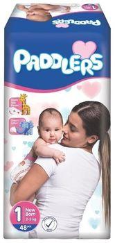 Подгузники Paddlers Standart №1 Newborn 2-5kg 48