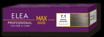 Краска для волос,SOLVEX Elea Max, 100 мл., 7.1 - Русый пепельный