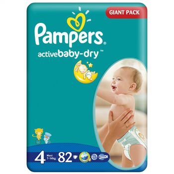 PAMPERS GIANT PACK  4 (7-14 kг) (82 шт.)