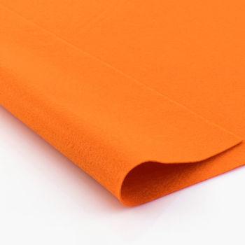 Фетр мягкий Темно-оранжевый. Размер: А4