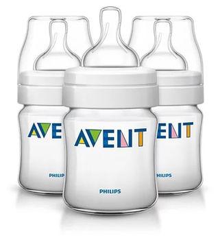 купить Набор бутылочек Philips AVENT Classic 125 мл с силиконовой соской (0+ мес) 3 шт в Кишинёве