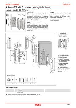 Комплект ручек для раздвижных дверей B029235003 полированная латунь