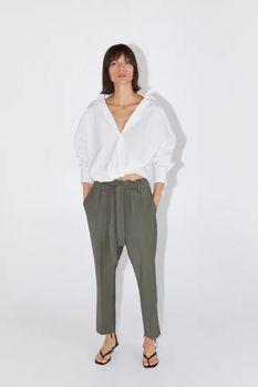 Pantaloni ZARA Verde 9929/235/505