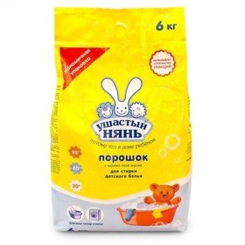 купить Ушастый Нянь стиральный порошок универсальный, 6000 г в Кишинёве