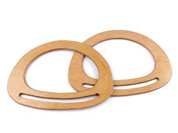 Mâner din lemn pentru geantă