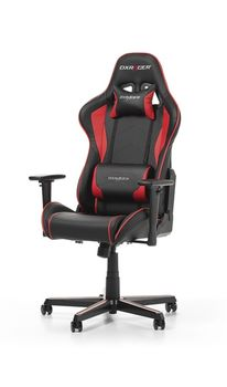 Gaming Chairs DXRacer - Formula GC-F08-NR-H1, Black/Black/Red - PU leather, Gamer weight up to 100kg / growth 145-180cm, Foam Density 52kg/m3, 5-star Aluminum IC Base, Gas Lift 4 Class, Recline 90*-135*, Armrests: 3D, Pillow-2, Caster-2*PU, W-23kg