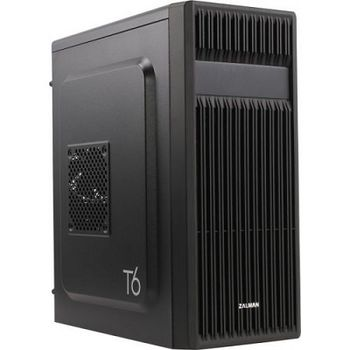 "ZALMAN ""T6"" ATX Case,  without PSU, Front Mesh design, 120mm rear fan pre-installed, Compact size, Detachable 5.25"" ODD cover, 1xUSB3.0, 2xUSB2.0 /Audio, Black"