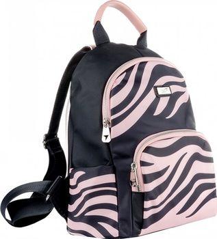 "Рюкзак ""Танзания"" Yes I чёрно-розовый"
