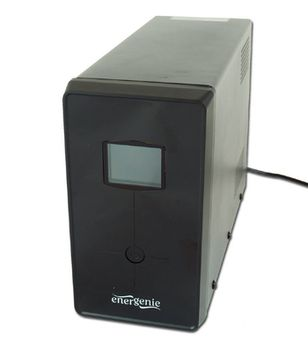 Gembird EnerGenie EG-UPS-034, 1500VA / 900W, UPS with AVR, output sockets:3 pcs x C13, 2 pc Shuko outlets, LCD display, USB port