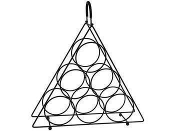 Подставка на 6 бутылок Пирамида, 3 уровня 41X37.5X11cm, мета