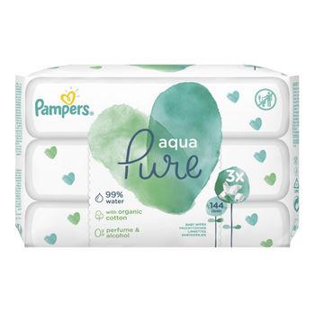 купить Влажные салфетки Pampers Pure (3x48 шт) в Кишинёве