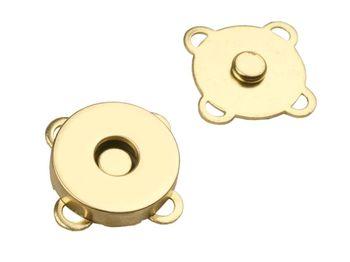 Capse magnetice de cusut, Ø18 mm / auriu