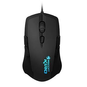 ROCCAT Kiro / Modular Ambidextrous Gaming Mouse, up to 2000dpi (4000dpi with Overdrive Mode), 10 programmable buttons, Pro-Optic (R2) sensor, 16.8M Multi-color illumination logo, ARM MCU+ onboard memory, SWARM™, USB, Black