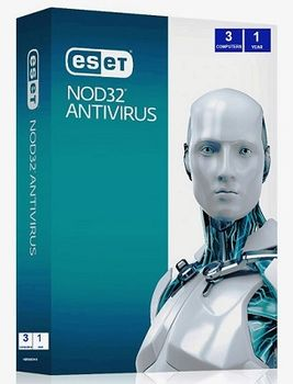 ESET NOD32 Antivirus 3 Dt Base 1 Year