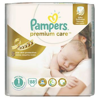 купить Pampers Подгузники Premium Care 1, 2-5 kг, 88 шт в Кишинёве