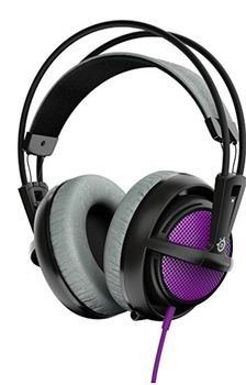 STEELSERIES Siberia 200 / Gaming Headset with retractable Microphone, on the cord volume control, 50mm neodymium drivers, Comfortable, Lightweight, Cable lenght 1.8 m, 3.5mm jack, Sakura Purple